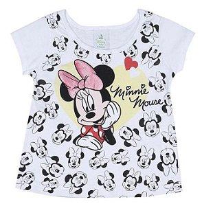 Blusa Baby da Minnie - Branco e Preto - Brandili