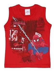 Regata Infantil Homem Aranha Marvel - Vermelha - Brandili