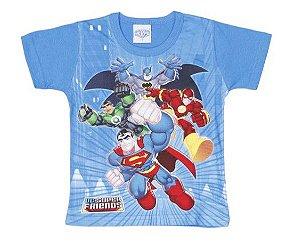 Camiseta Liga da Justiça - Azul - Brandili