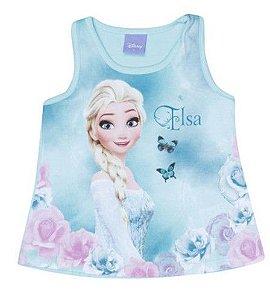 Blusa Elsa - Disney Frozen - Verde Água - Brandili