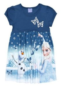 Vestido Frozen - Borboletas - Azul Petróleo e Prateado - Brandili