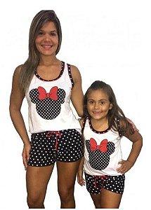 Pijama Short Doll Minnie -Coleção Mãe e Filha