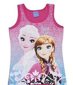 Blusa Anna e Elsa (Frozen) - Pink e Azul - Brandili
