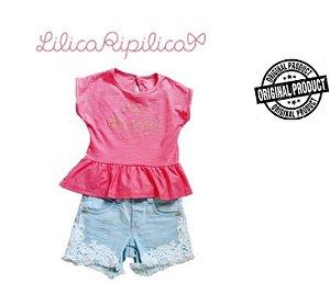 Conjunto de Blusa e Short - Lilica Ripilica Baby - Coral