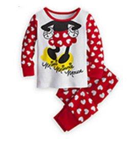 Pijama Infantil Minnie - Vermelho e Branco