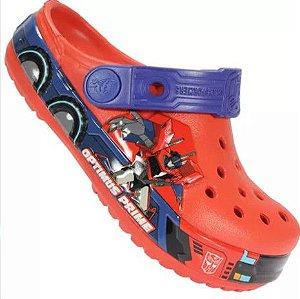 Crocs Transformers - Optimus Prime - Vermelho e Azul Marinho