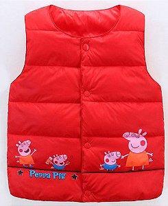 Colete Família Peppa Pig - Vermelho