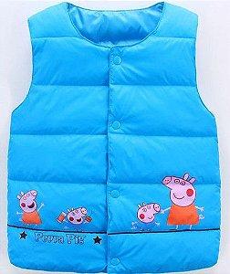 Colete Família Peppa Pig - Azul Claro
