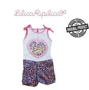 Conjunto de Blusa e Short - Lilica Ripilica Baby - Tigrado Rosa