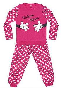 Pijama Forrado da Minnie - Pink e Branco - Lupo