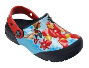 Crocs Fun Lab Avengers - Marvel Vingadores -  Azul Marinho e Vermelho