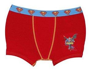 Cueca Boxer Superman - Lupo - Vermelha e Azul