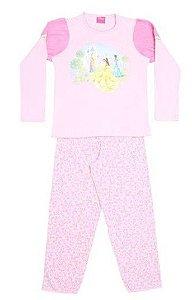 Pijama Princesas da Disney - Rosa e Rosa Claro - Lupo