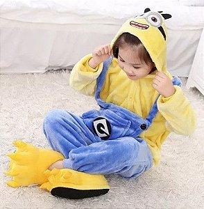 Pijama (macacão) Soft Minions - Amarelo e Azul