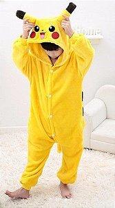 Pijama (macacão) Soft Pikachu - Pokémon - Amarelo e Marrom