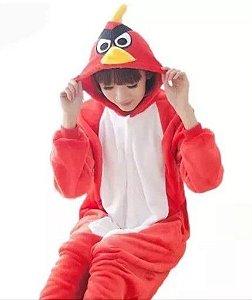 78c2435d2 Pijama (macacão) Soft Angry Birds- Vermelho e Branco