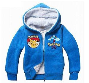 Casaco de Moletom Forrado - Pikachu - Pokémon - Azul