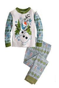 Pijama do Olaf (Frozen) - Branco e Azul