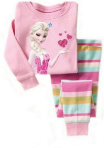 Pijama da Rainha Elsa (Frozen) - Listrado Rosa