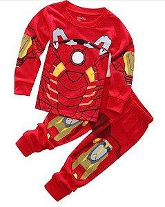 Pijama do Homem de Ferro - Vermelho e Cinza
