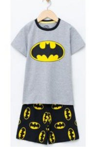 Pijama do Batman - Cinza e Preto