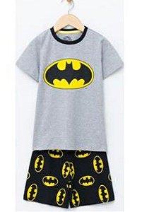 Pijama Bebê Batman - Cinza e Preto