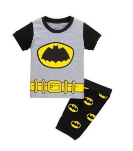 Pijama do Batman - Uniforme Oficial - Cinza e Preto