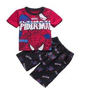 Pijama do Homem Aranha - Vermelho e Preto