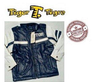 Jaqueta Tigor T Tigre - Azul Marinho e Branco