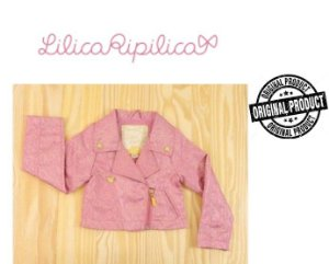 Casaco da Lilica Ripilica - Rosa e Filetes Dourados
