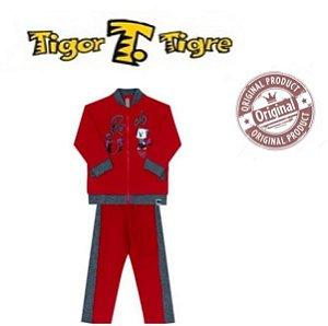 Conjunto de Moleton Tigor T. Tigre Baby - Vermelho e Cinza