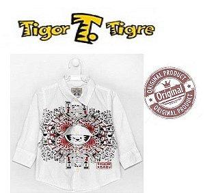 Camisa Estampada Tigor T Tigre Baby - Branca e Vermelha