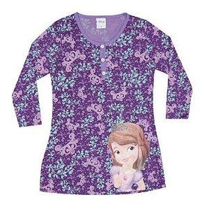 Camisola Princesa Sofia - Disney - Roxo e Lilás - Lupo