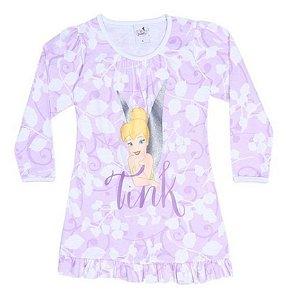 Camisola Tinker Bell - Disney Fairies - Branca e Lilás - Lupo