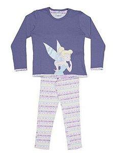 Pijama Tinker Bell - Disney Fairies - Lilás e Branco - Lupo