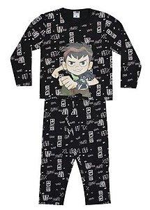 Pijama do Ben 10 - Omniverse - Preto e Bege - Lupo