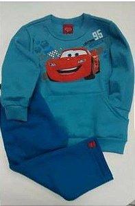 Conjunto de Blusa e Calça de Moleton dos Carros - Azul - Malwee