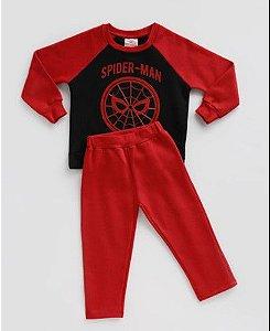 Conjunto de Blusa de Moleton e Calça do Homem Aranha  - Vermelho e Preto - Marvel