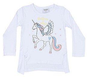 Blusa de Unicórnio - Branca - Rovitex Kids