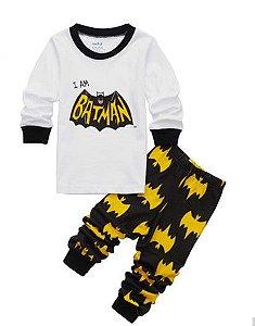 Pijama do Batman - Branco e Preto