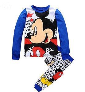 Pijama do Mickey - Branco e Azul