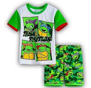 Pijama das Tartarugas Ninja - Branco e Verde