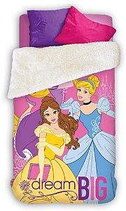 Coberdrom Fleece Dupla Face Princesas