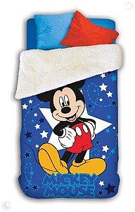 Coberdrom Fleece Dupla Face do Mickey
