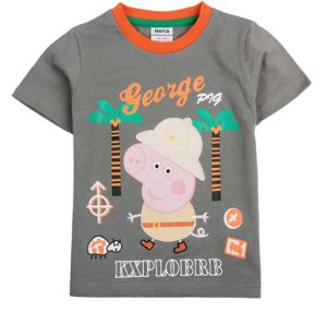 Camiseta do George - Peppa Pig - Bordada