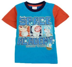 Camiseta do George e seus Amigos - Peppa Pig - Azul