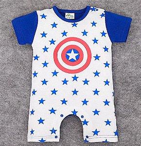 Body do Capitão América - Branco e Azul