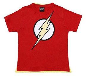 Camiseta do Flash - Liga da Justiça - Com Capa - Brandili