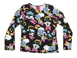Blusa da Minnie e Margarida - Preta e Rosa - Cativa Disney