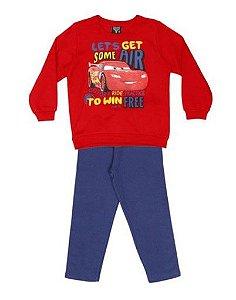 Conjunto de Blusa de Moletom e Calça dos Carros - Mcqueen - Cativa Disney